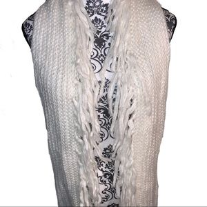 NWT A New Day Fringe Off-white Knitted Scarf